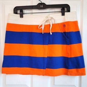 Converse One Star Orange Blue Striped Skirt Medium
